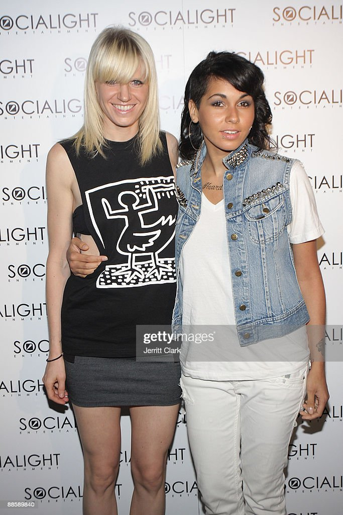 Designer Erin Magee and Nicole Albino of NiNa Sky attend Jeremy Asgari and DJ Soul's Birthday Bash at the Hiro Ballroom at The Maritime Hotel on June 19, 2009 in New York City.