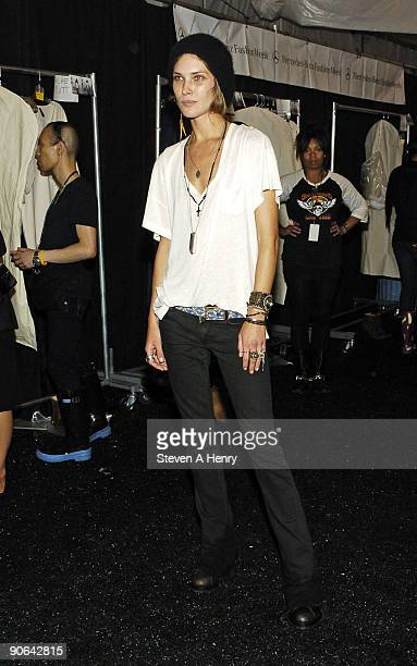 Designer Erin Wasson attends the Erin Wasson x RVCA Spring 2010 during MercedesBenz Fashion Week at Bryant Park on September 11 2009 in New York City