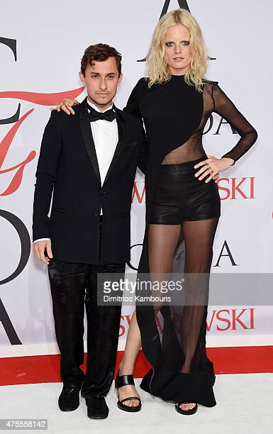Designer Esteban Cortazar and model Hanne Gaby Odiele attend the 2015 CFDA Fashion Awards at Alice Tully Hall at Lincoln Center on June 1 2015 in New...