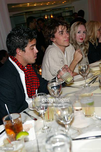 Designer Esteban Cortezar and friends enjoy dinner at Asia De Cuba at Ian Schrager's Morgan's Hotel during Olympus Fashion Week February 10 2004 in...