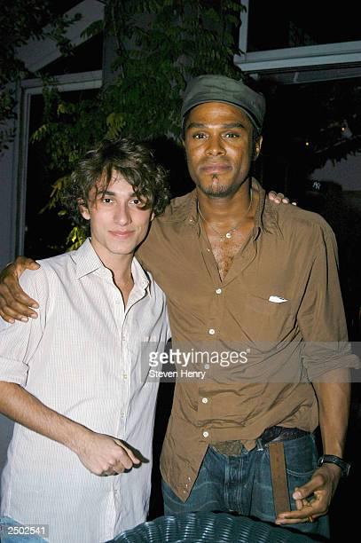 Designer Esteban Cortezar and singer Maxwell attend a private party for Esteban Cortezar's Spring 2004 Collection at Ian Schrager's Hudson penthouse...