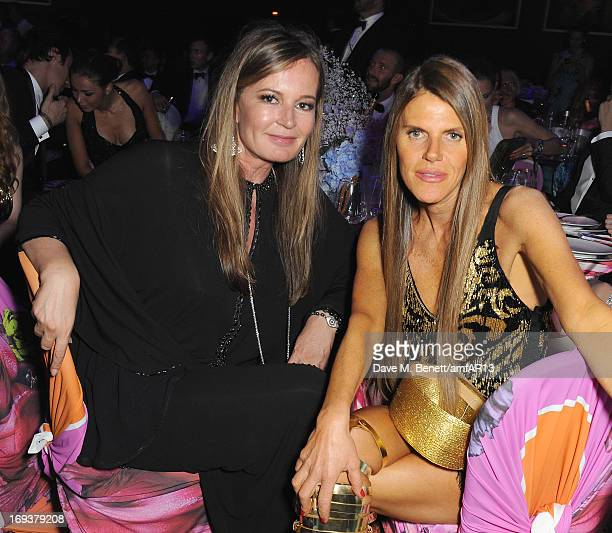 Designer Eva Cavalli and editor of Vogue Japan Anna Dello Russo attend the after party for amfAR's 20th Annual Cinema Against AIDS during The 66th...