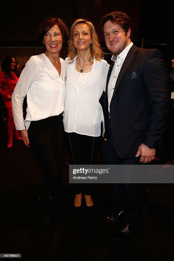 Designer Eva Lutz Inge Steiner and Matthias Steiner attend the Minx by Eva Lutz show during MercedesBenz Fashion Week Autumn/Winter 2014/15 at...