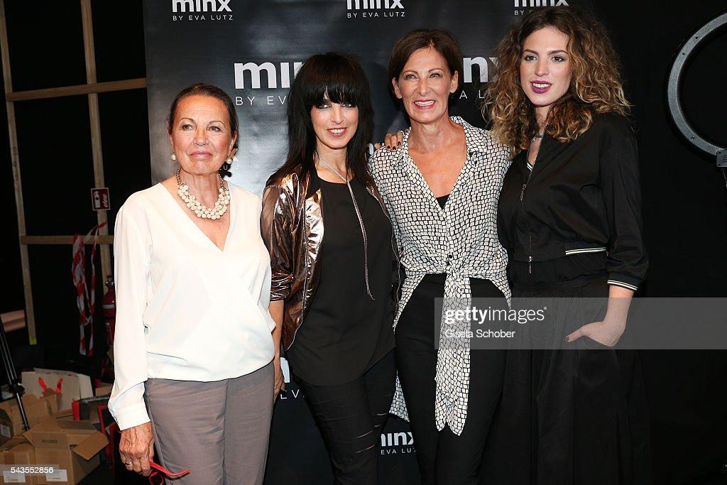 Designer Eva Lutz with singer Nena her mother Ursula Griebner and her daughter Larissa Kerner at the Minx by Eva Lutz show during the MercedesBenz...