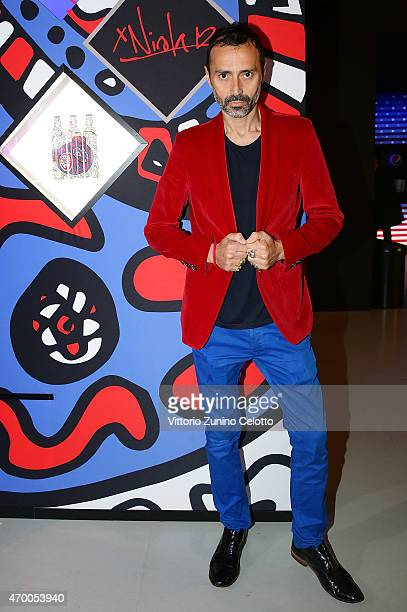 Designer Fabio Novembre participates in the #PepsiChallenge Round Table At The PepsiCo 'Mix It Up' Space During Milan Design Week on April 17 2015 in...