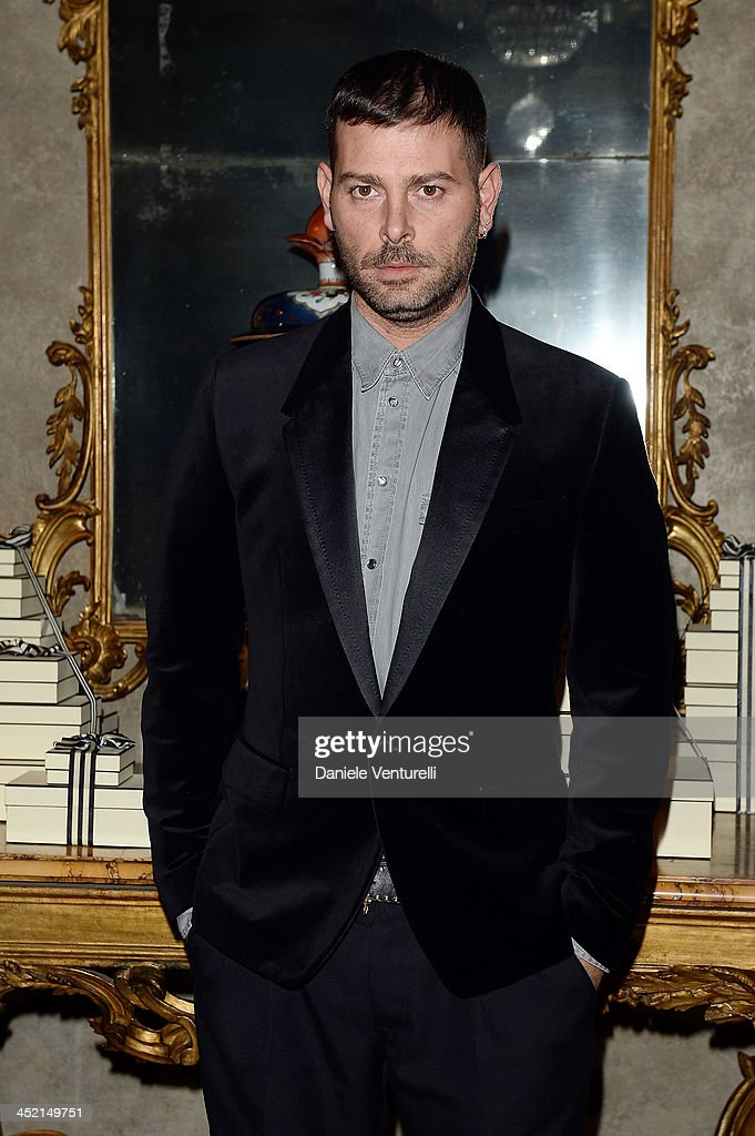 Designer Fausto Puglisi attends the 'Jo Malone London Scented' Dinner at Palazzo Crespi on November 26, 2013 in Milan, Italy.