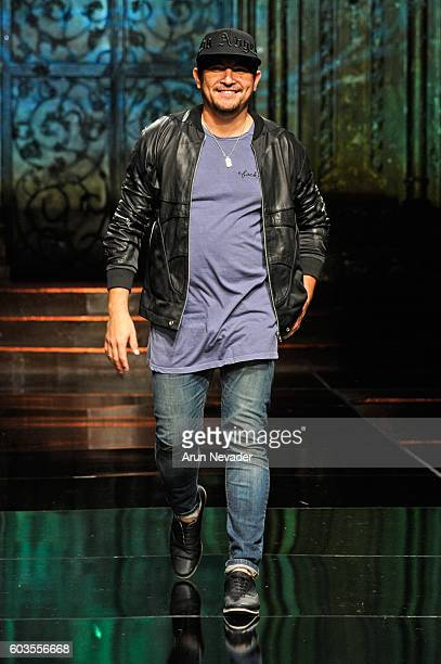 Designer Fernando Alberto walks the runway during the Fernando Alberto featuring Fernando Rodriguez show at Art Hearts Fashion NYFW The Shows...