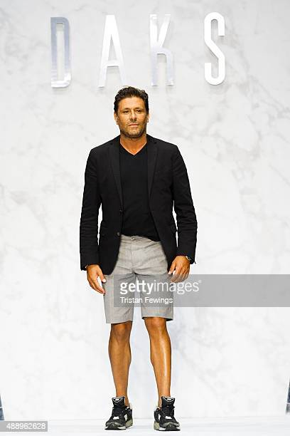 Designer Filippo Scuffi on the runway at the DAKS show during London Fashion Week Spring/Summer 2016 on September 18 2015 in London England