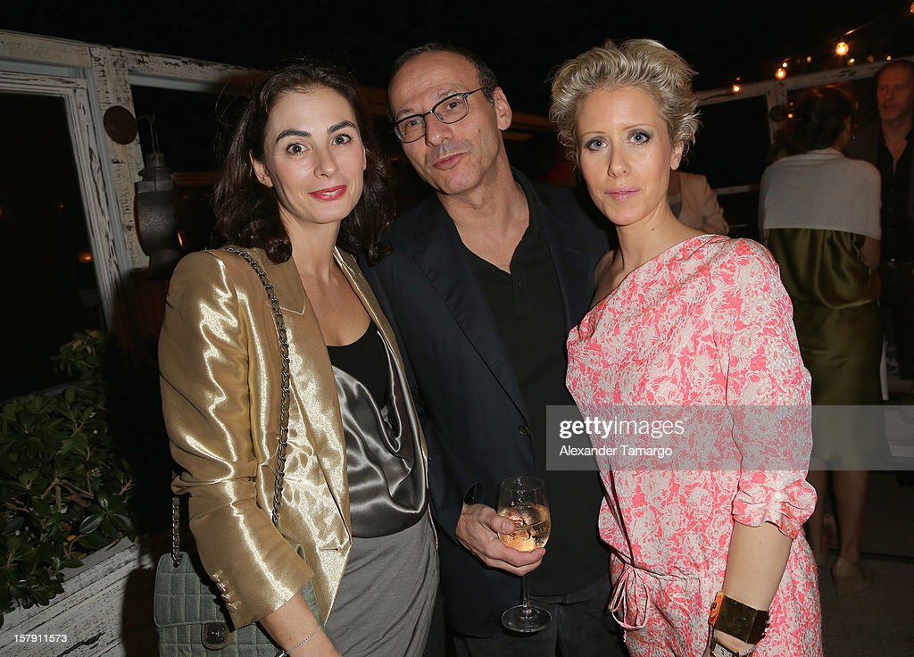 Designer Francesca Amfitheatrof, Philipp Ruth and Elizabeth Esteve attend the Baku Magazine Party at Soho Beach House during Miami Art Basel on December 4, 2012 in Miami Beach, Florida. Baku Magazine is dedicated to promoting contemporary art and culture in Azerbaijan.