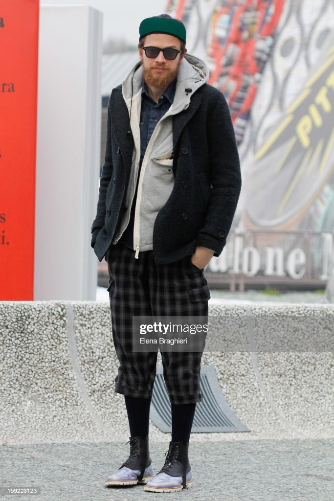 Designer Francesco Ferrari is seen at Pitti Immagine Uomo 83 on January 9, 2013 in Florence, Italy.
