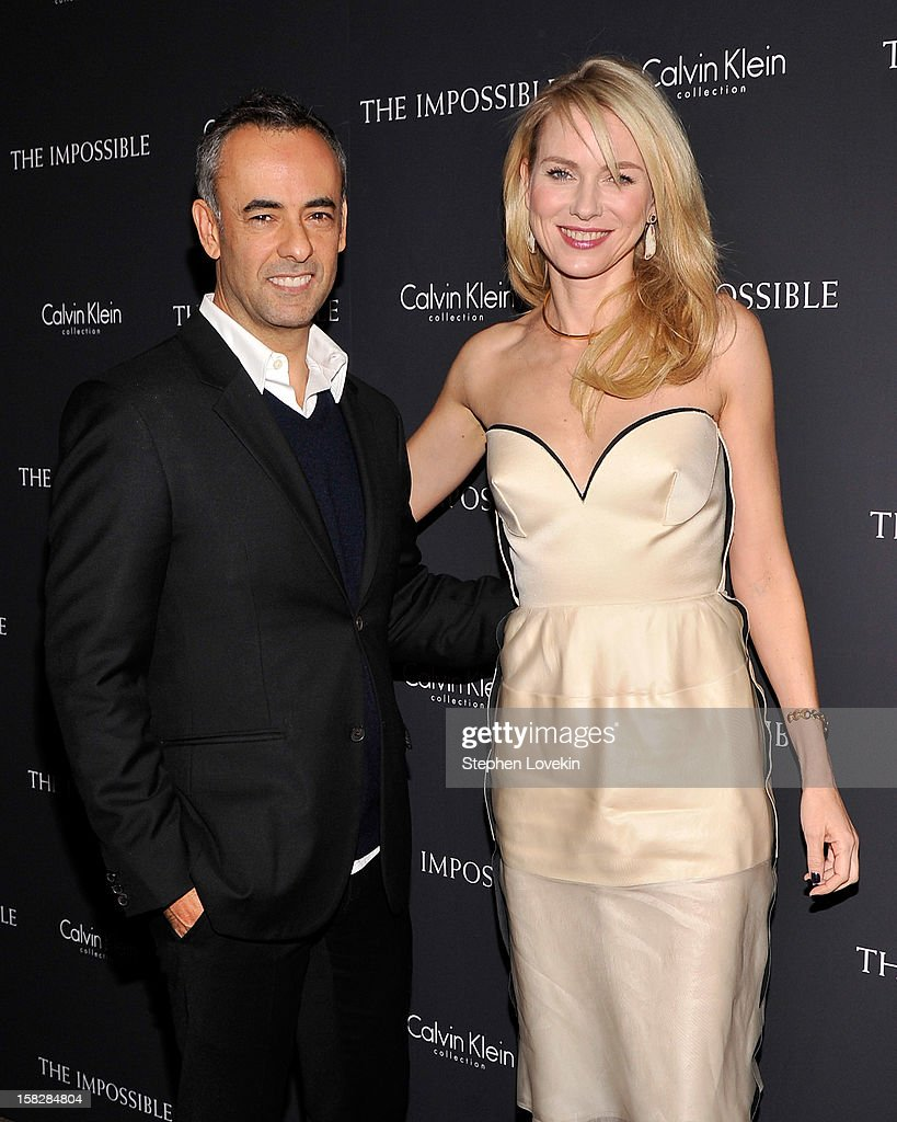 Designer Francisco Costa and actress <a gi-track='captionPersonalityLinkClicked' href=/galleries/search?phrase=Naomi+Watts&family=editorial&specificpeople=171723 ng-click='$event.stopPropagation()'>Naomi Watts</a> attend 'The Impossible' New York special screening at Museum of Art and Design on December 12, 2012 in New York City.
