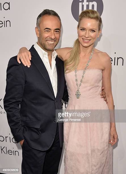 Designer Francisco Costa and actress Naomi Watts attends the Calvin Klein Party at the 67th Annual Cannes Film Festival on May 15 2014 in Cannes...