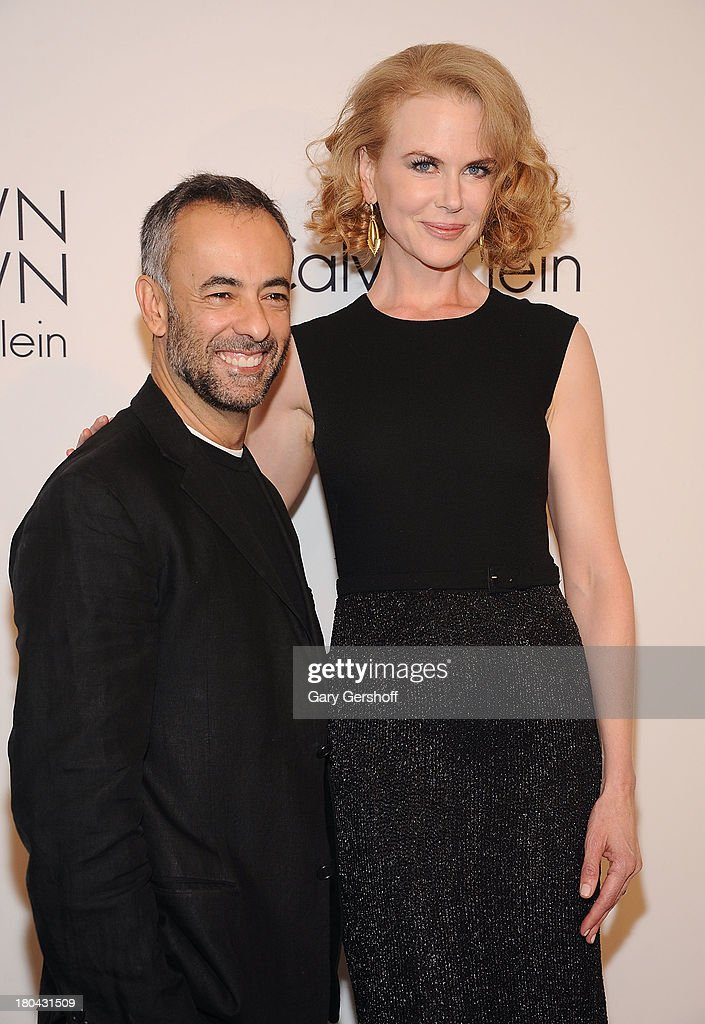 Designer Francisco Costa (L) and actress <a gi-track='captionPersonalityLinkClicked' href=/galleries/search?phrase=Nicole+Kidman&family=editorial&specificpeople=156404 ng-click='$event.stopPropagation()'>Nicole Kidman</a> attend the Calvin Klein Collection post show event at Spring Studios on September 12, 2013 in New York City.