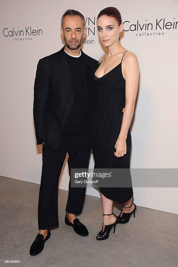 Designer Francisco Costa (L) and actress <a gi-track='captionPersonalityLinkClicked' href=/galleries/search?phrase=Rooney+Mara&family=editorial&specificpeople=5669181 ng-click='$event.stopPropagation()'>Rooney Mara</a> attend the Calvin Klein Collection post show event at Spring Studios on September 12, 2013 in New York City.