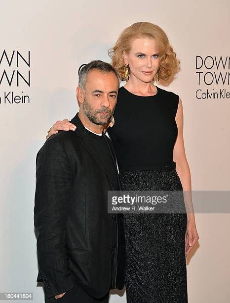 Designer Francisco Costa and Nicole Kidman attend the Calvin Klein Collection post fashion show event during MercedesBenz Fashion Week Spring 2014 at...