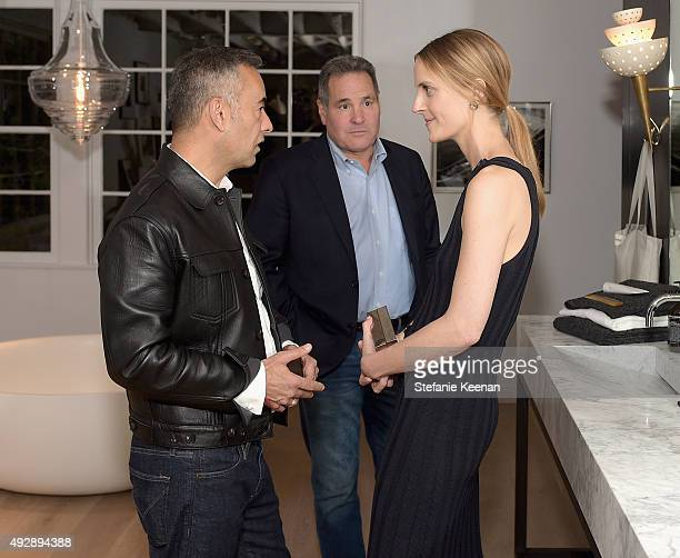 Designer Francisco Costa John DeStefano and Executive Creative Director The Line Vanessa Traina attend The Apartment by The Line LA opening on...