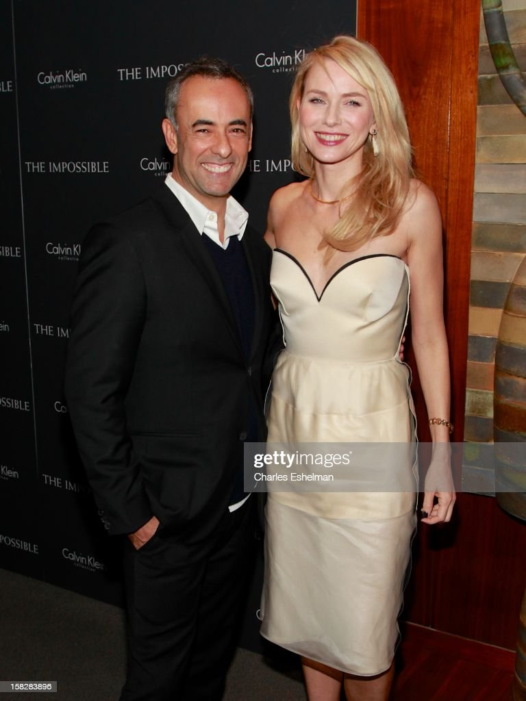 Designer Franciso Costa and actress Naomi Watts attends 'The Impossible' screening at the Museum of Art and Design on December 12, 2012 in New York City.