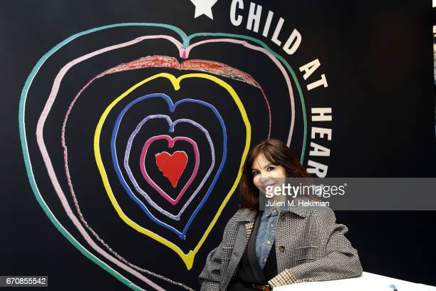 Designer Frederique Lopez attends Fashion For Relief 'Child At Heart' cocktail party on April 20 2017 in Paris France The 'Child At Heart' collection...