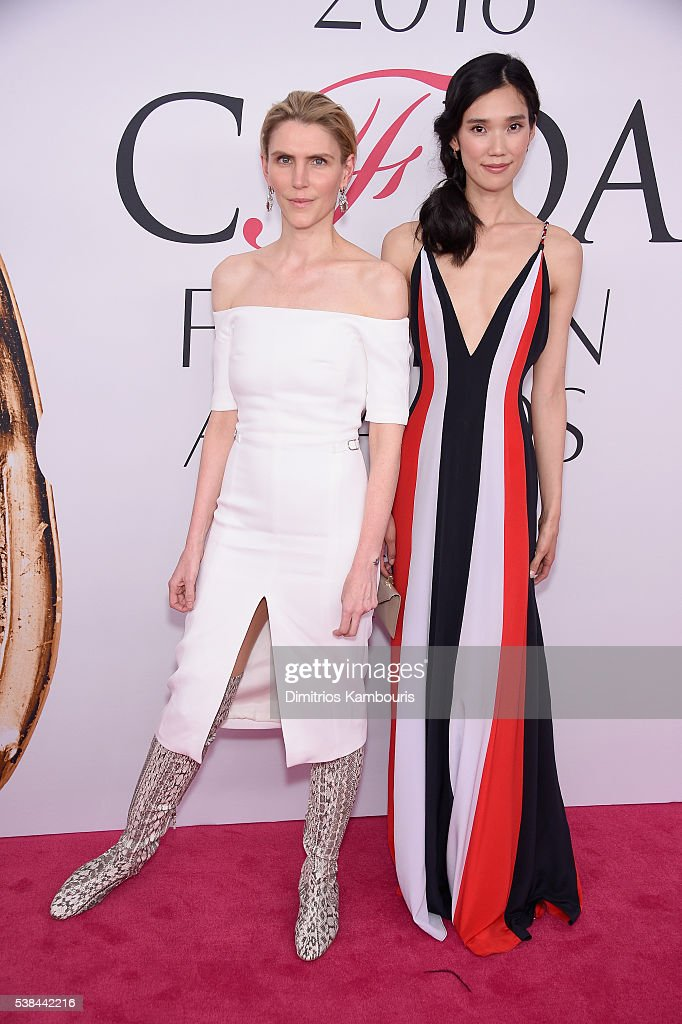 Designer Gabriela Hearst and actress Tao Okamoto attends the 2016 CFDA Fashion Awards at the Hammerstein Ballroom on June 6 2016 in New York City