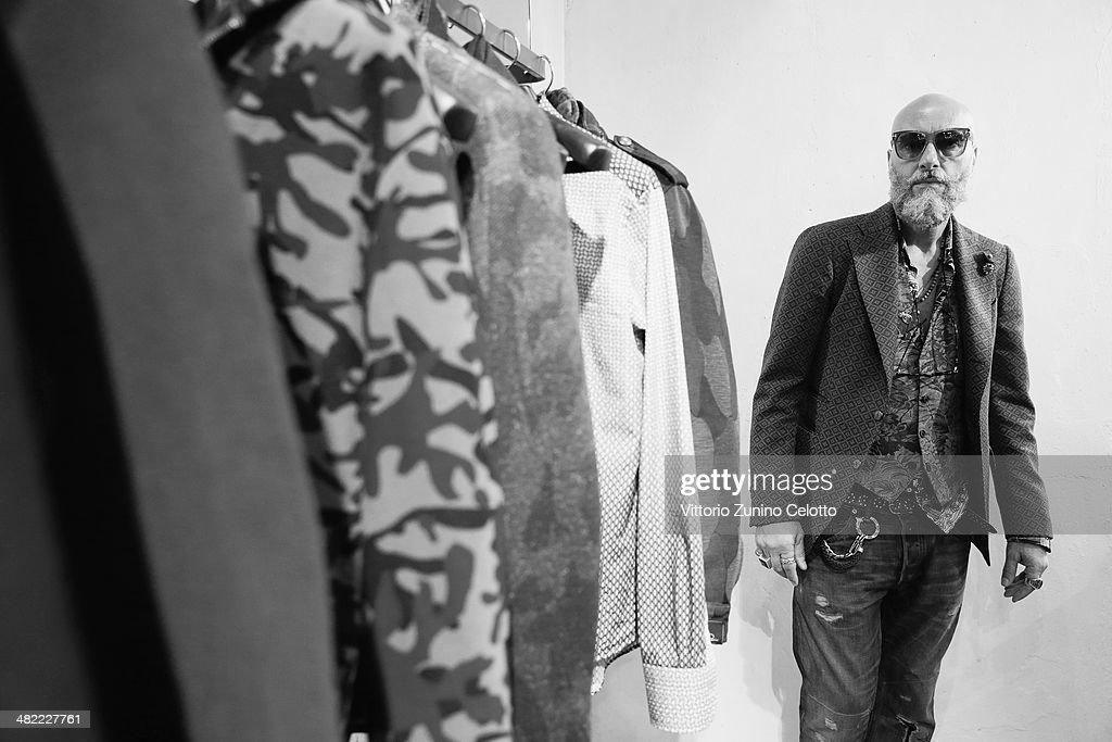 Designer Gabriele Pasini poses during the Lardini Boutique Opening on April 3, 2014 in Milan, Italy.