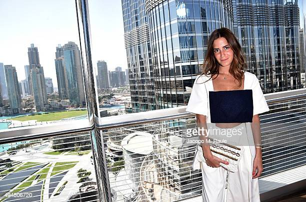 Designer Gala Gonzalez attends the press conference to launch the Vogue Fashion Dubai Experience 2015 at Symphony Ballroom The Address Downtown Hotel...