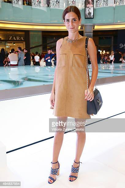 Designer Gala Gonzalez attends the Talents Fashion show during the Vogue Fashion Dubai Experience 2015 at The Dubai Mall on October 29 2015 in Dubai...