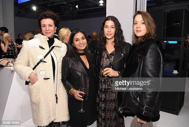 Designer Garance Dore Rebecca Minkoff and guests attends the Intel party during New York Fashion Week The Shows at Clarkson Sq on February 12 2016 in...