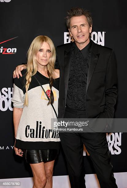 Designer Gela Nash and John Taylor of Duran Duran attend Fashion Rocks 2014 presented by Three Lions Entertainment at the Barclays Center of Brooklyn...