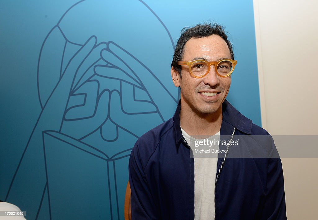 Designer Geoff McFetridge attends Warby Parker's store opening in The Standard, Hollywood on August 15, 2013 in Los Angeles, California.