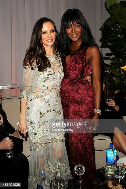 Designer Georgina Chapman and model Naomi Campbell attend The Weinstein Company Netflix's 2015 Golden Globes After Party presented by FIJI Water...