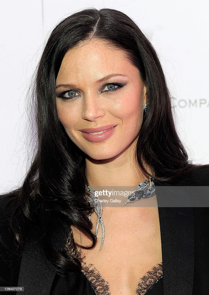 Designer Georgina Chapman arrives at the Montblanc Cocktail Party co-hosted by Harvey and <a gi-track='captionPersonalityLinkClicked' href=/galleries/search?phrase=Bob+Weinstein&family=editorial&specificpeople=220486 ng-click='$event.stopPropagation()'>Bob Weinstein</a> celebrating the Weinstein Company's Academy Award Nominees and the New Montblanc Charity Partnership with the Princess Grace Foundation-USA at Soho House on February 26, 2011 in West Hollywood, California.