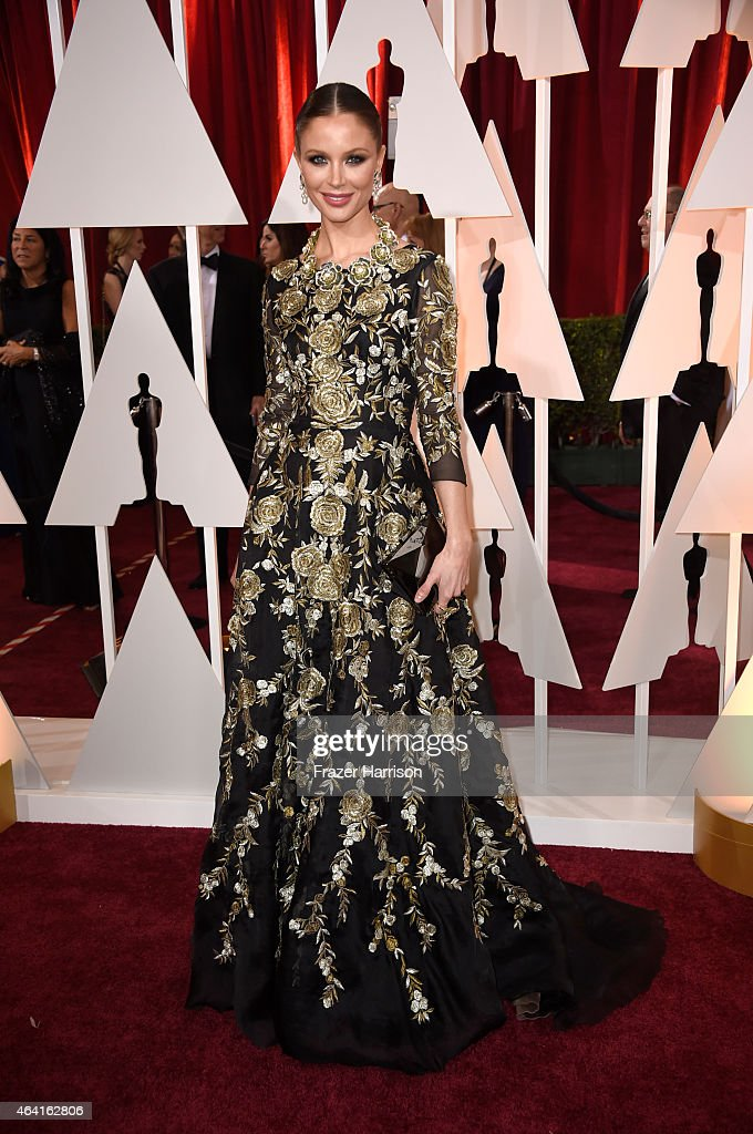 Designer Georgina Chapman attends the 87th Annual Academy Awards at Hollywood & Highland Center on February 22, 2015 in Hollywood, California.