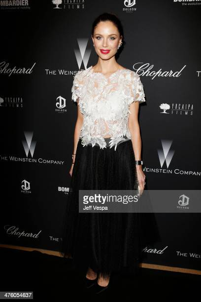 Designer Georgina Chapman attends The Weinstein Company's Academy Award party hosted by Chopard and DeLeon Tequila at Montage Beverly Hills on March...