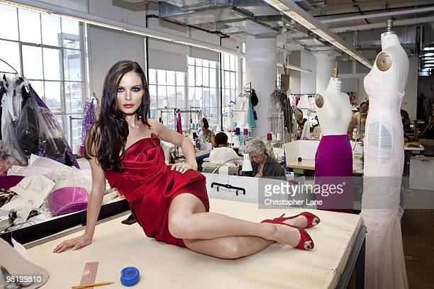 Designer Georgina Chapman poses for a portrait session on August 13 New York NY