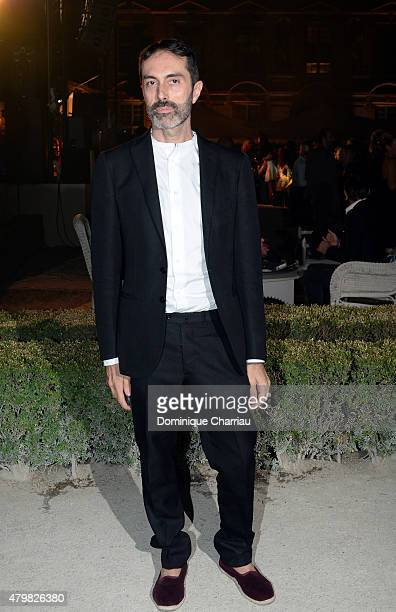 Designer Giambattista Valli attends the Tory Burch Paris Flagship store opening after party at on July 7 2015 in Paris France
