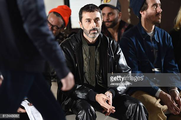 Designer Giambattista Valli watches the dress rehearsal ahead the Giamba show during Milan Fashion Week Fall/Winter 2016/17 on February 26 2016 in...