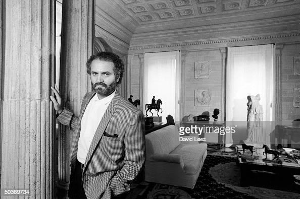 Designer Gianni Versace at home