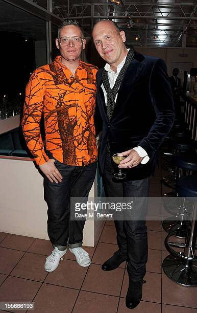 Designer Giles Deacon and Stylecom editorinchief Dirk Standen attend the Stylecom dinner celebrating London fashion hosted by editorinchief Dirk...