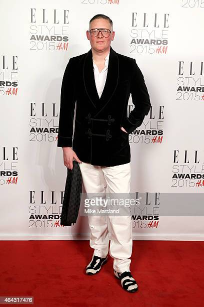 Designer Giles Deacon attends the Elle Style Awards 2015 at Sky Garden @ The Walkie Talkie Tower on February 24 2015 in London England