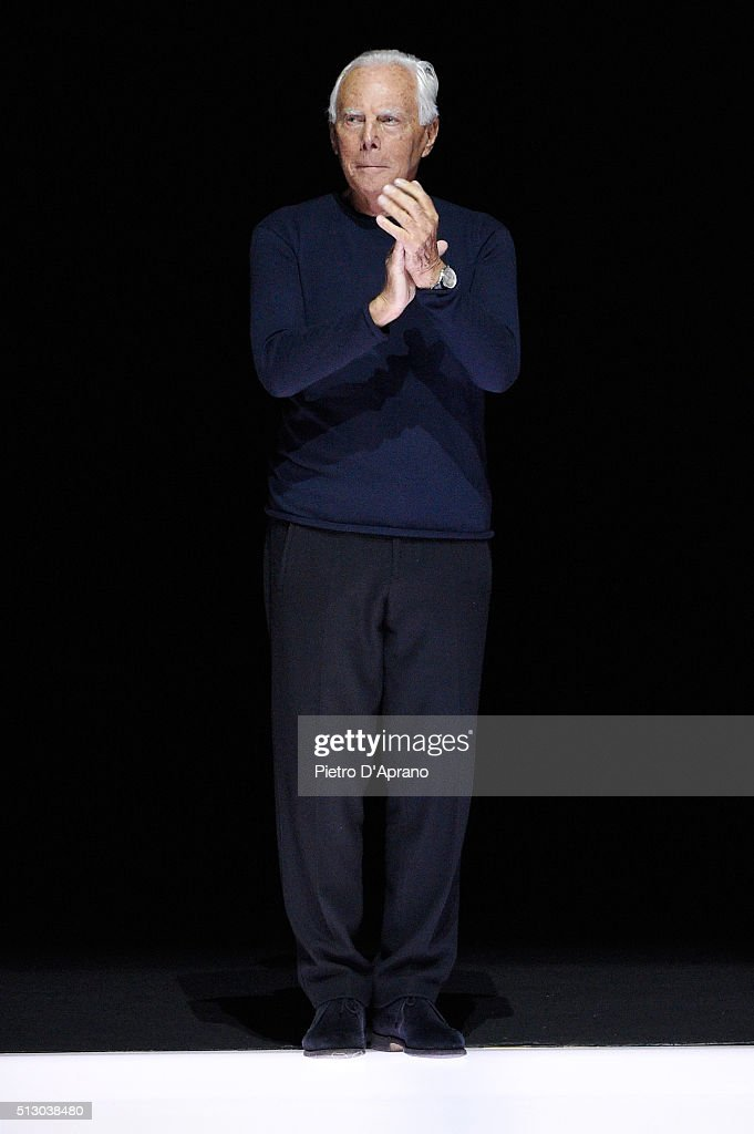 Giorgio Armani - Runway - Milan Fashion Week FW16 | Getty ... Giorgio Armani