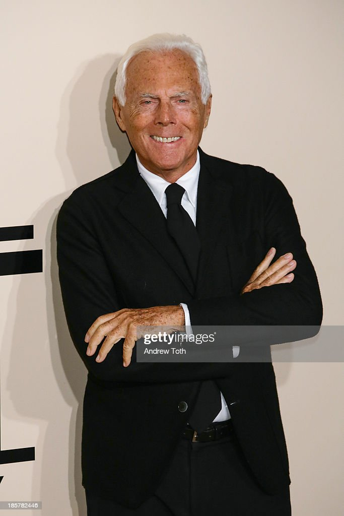 Designer Giorgio Armani attends Giorgio Armani One Night Only New York at SuperPier on October 24 2013 in New York City
