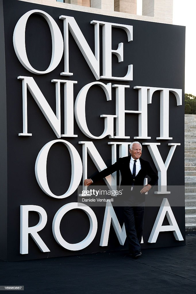 Designer Giorgio Armani attends 'One Night Only' Roma on June 5, 2013 in Rome, Italy.