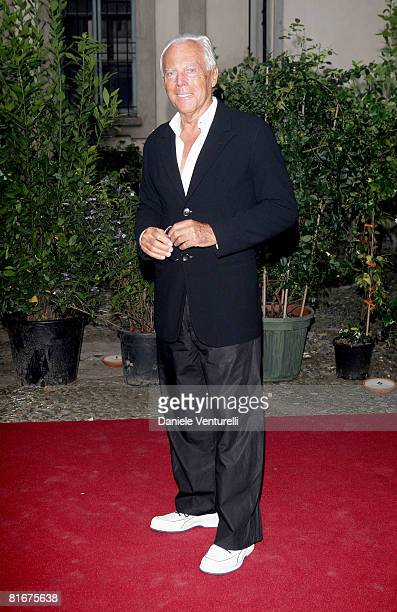 Designer Giorgio Armani attends Uomo Vogue 40th Anniversary Celebration Party as part of Milan Fashion Week Menswear Spring/Summer 2009 on June 22...