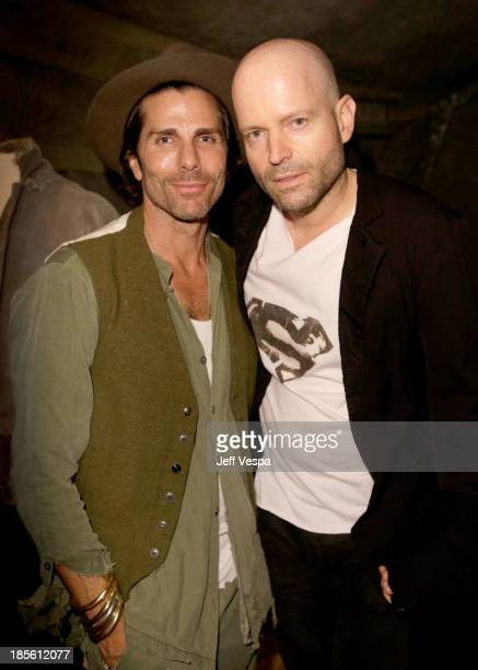 Designer Greg Lauren and host Marc Forster attend Barneys New York Marc Forster Katherine Ross' celebration of Greg Lauren's New Designer Fragrance...