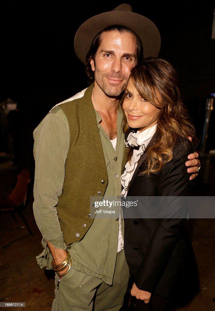 Designer Greg Lauren and singer Paula Abdul attend Barneys New York Marc Forster Katherine Ross' celebration of Greg Lauren's New Designer Fragrance...
