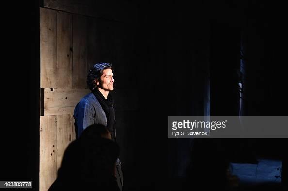 Designer Greg Lauren attends the Greg Lauren fashion show during MercedesBenz Fashion Week Fall 2015 at ArtBeam on February 18 2015 in New York City