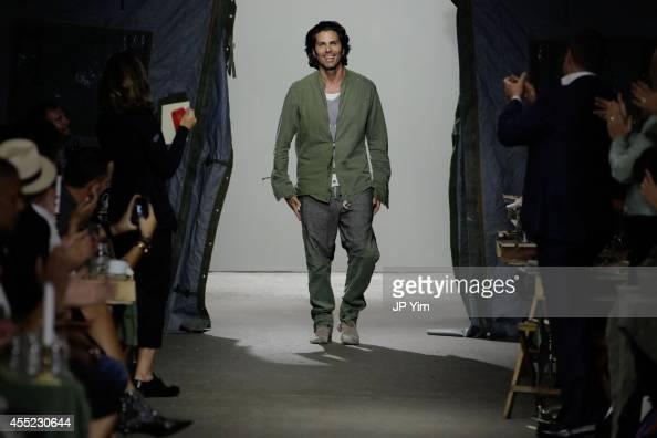Designer Greg Lauren walks the runway at the Greg Lauren SS15 Collection at the Eyebeam during MercedesBenz Fashion Week 2015 on September 10 2014 in...