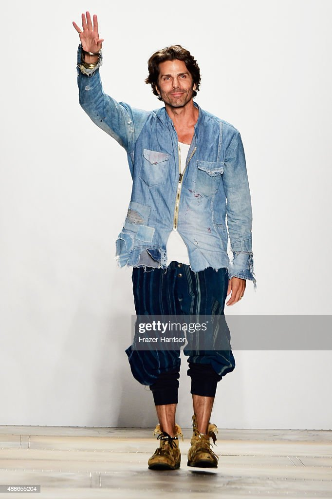 Designer Greg Lauren walks the runway wearing Greg Lauren Spring 2016 during New York Fashion Week The Shows at The Dock Skylight at Moynihan Station...