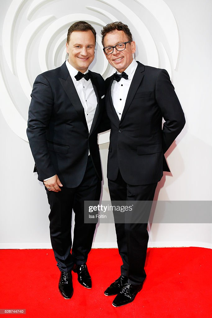 Designer Guido Maria Kretschmer and his husband Frank Mutters attend the Rosenball 2016 on April 30, 2016 in Berlin, Germany.