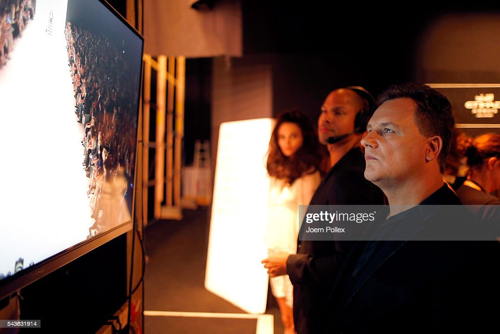 Designer Guido Maria Kretschmer is seen backstage ahead of the Guido Maria Kretschmer show during the Mercedes-Benz Fashion Week Berlin Spring/Summer 2017 at Erika Hess Eisstadion on June 29, 2016 in Berlin, Germany.